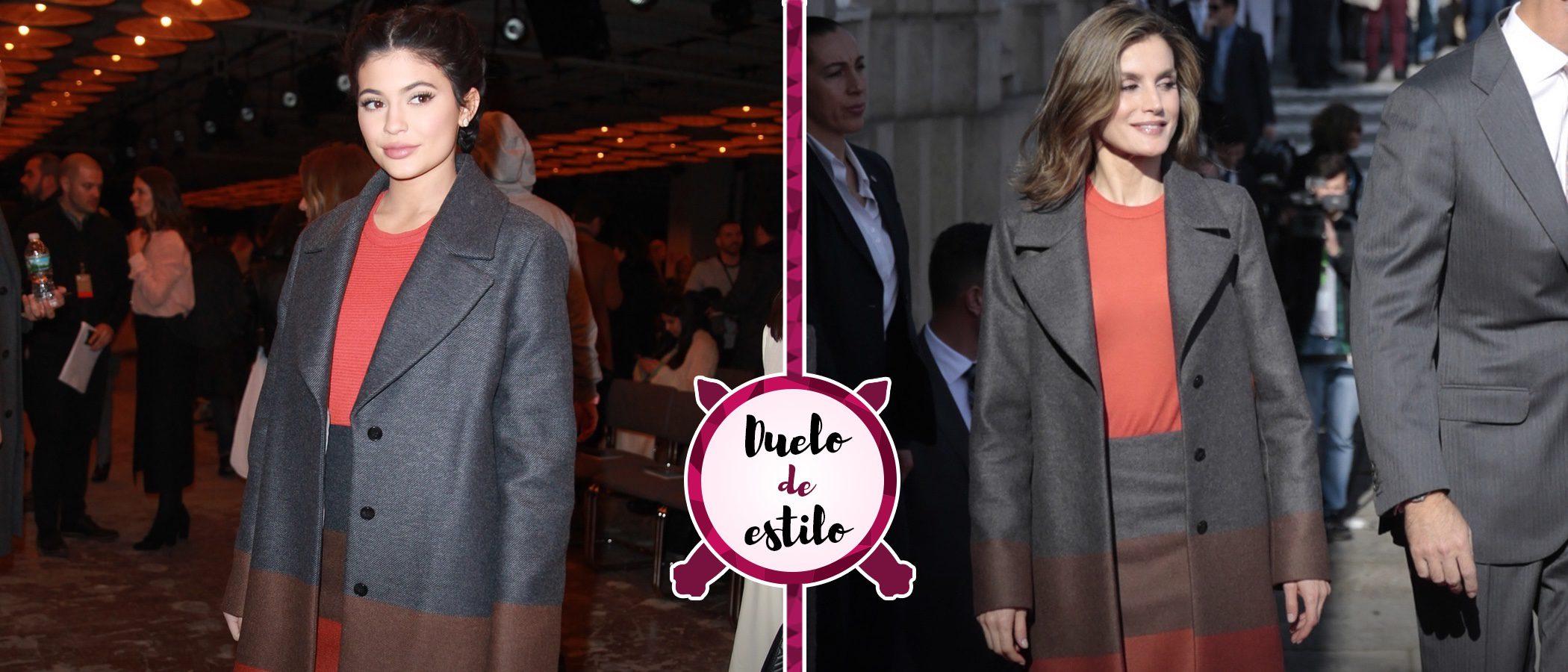 La Reina Letizia y Kylie Jenner apuestan por el mismo conjunto, ¿quién lo luce mejor?