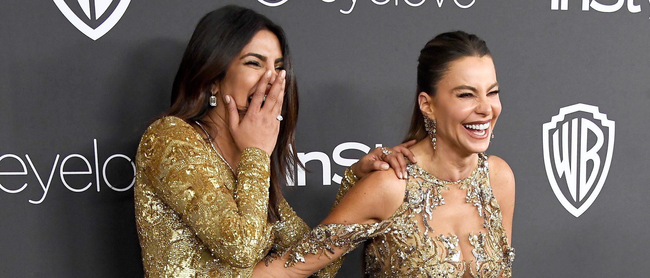 Sofía Vergara y Priyanka Chopra con un vestido similar en los Globos de Oro 2017, ¿qué look es el ganador?
