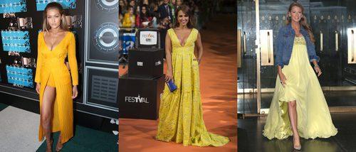 Adiós a las supersticiones: las celebrities se rinden ante el amarillo
