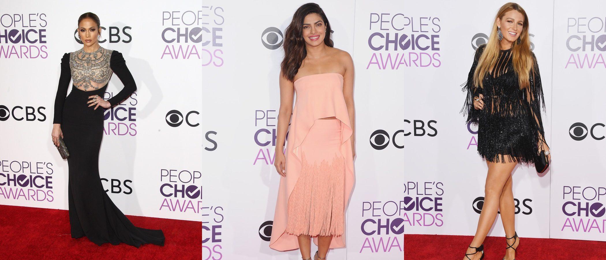 Jennifer Lopez, Blake Lively y Priyanka Chopra, entre las mejor vestidas de los People's Choice 2017