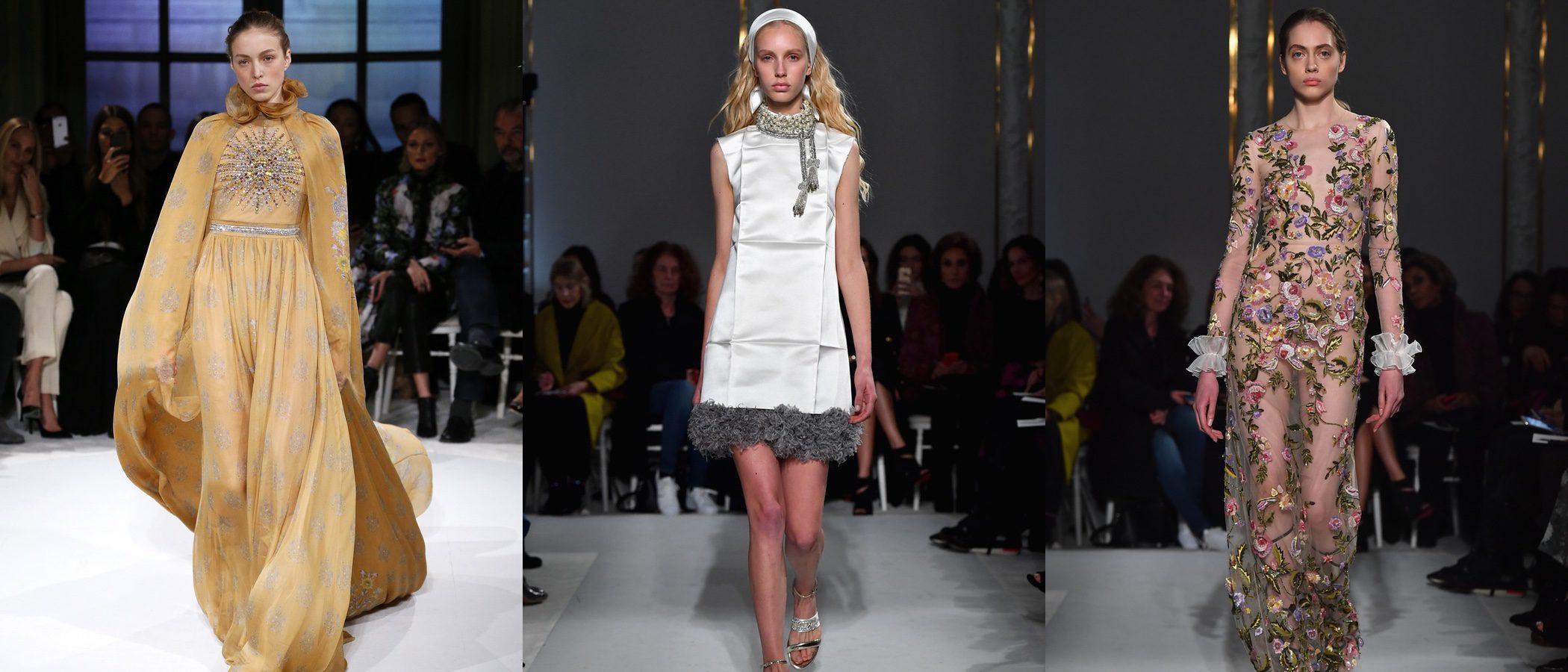 Giambattista Valli propone una primavera/verano 2017 vintage en la Semana de la Alta Costura de París