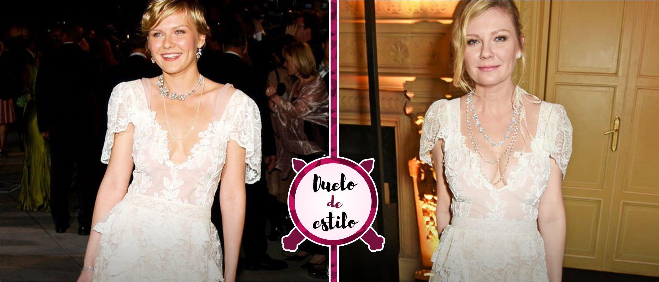 Kirsten Dunst repite un look de hace 13 años firmado por Christian Lacroix