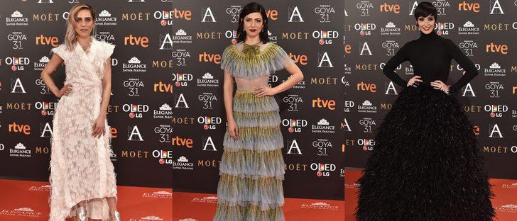 María León, Bárbara Lennie y Paz Vega, entre las peor vestidas de los Premios Goya 2017
