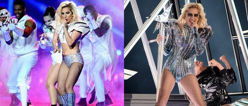 Los brillantes looks de Lady Gaga en la Super Bowl 2017