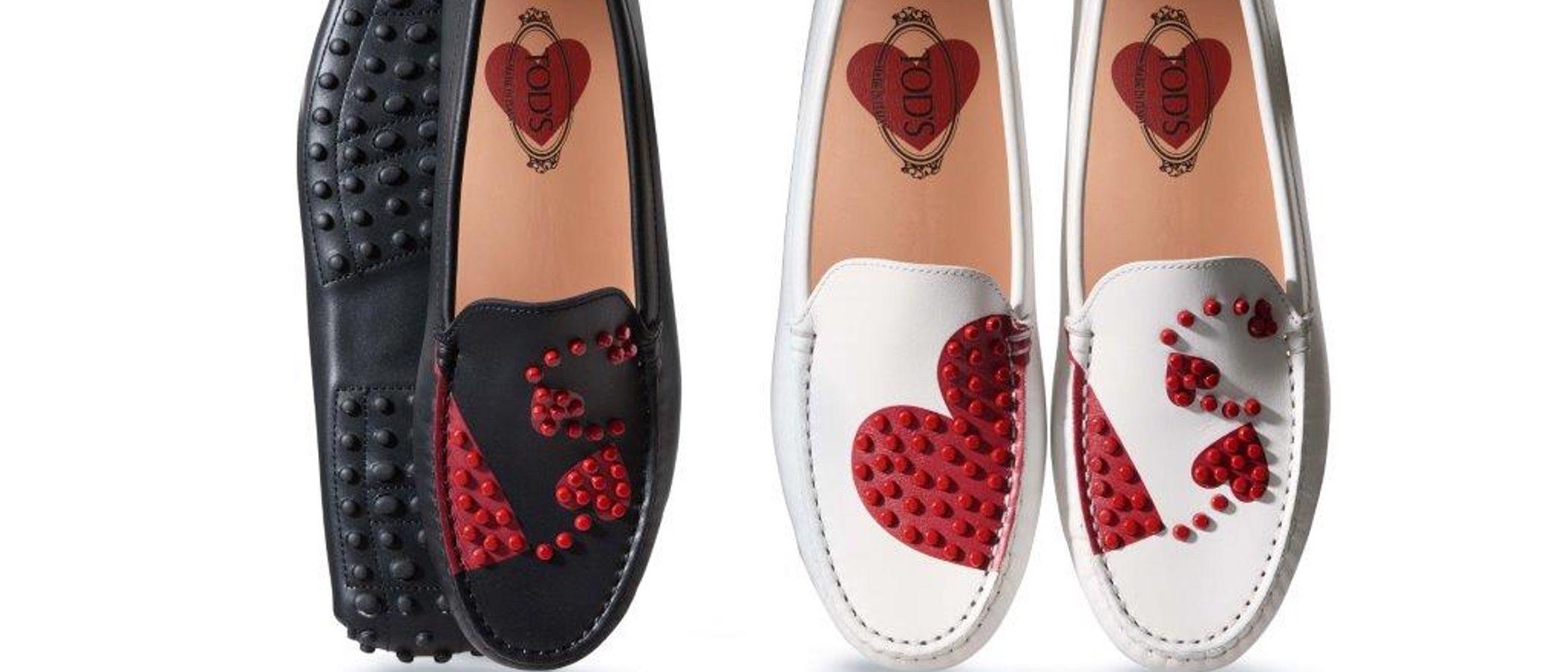 Tod's decora su clásico mocasín 'Gommino' con corazones para San Valentín 2017