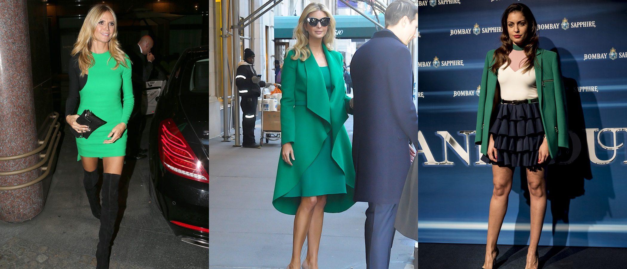Las celebrities apuestan por color del año: así les sienta el verde 'greenery'