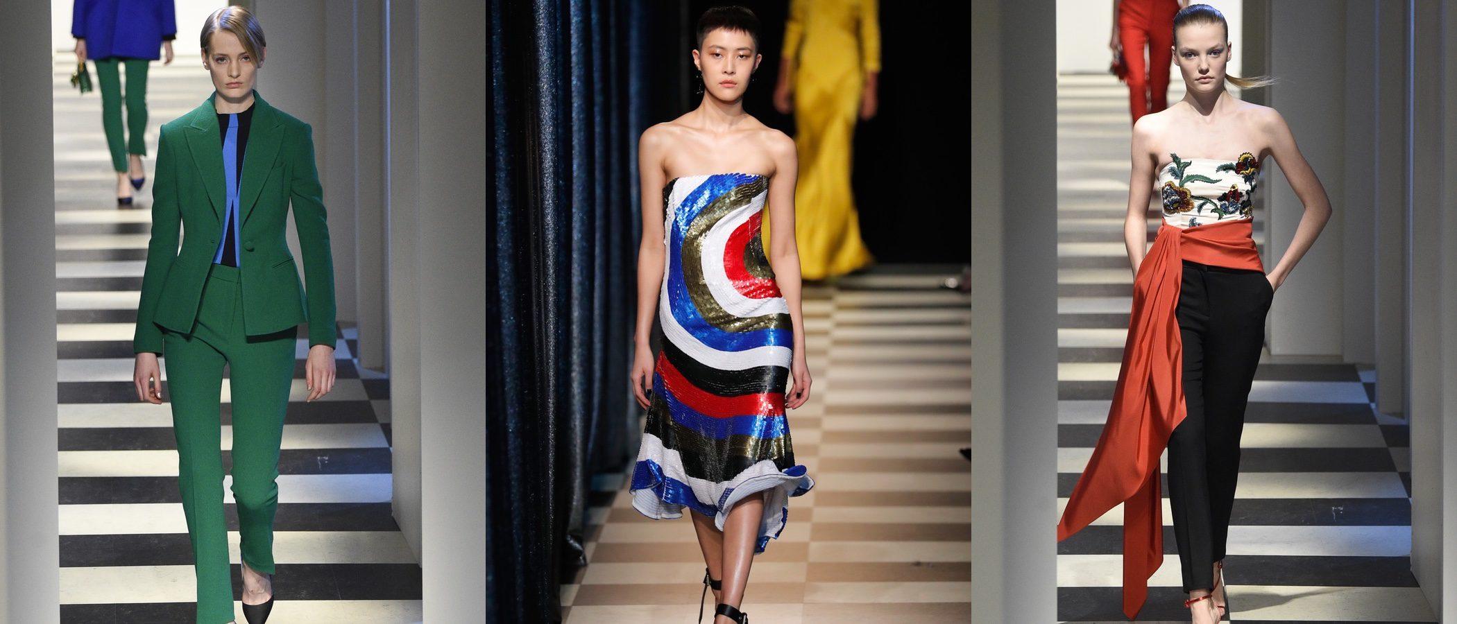 Oscar de la Renta sube a la New York Fashion Week looks femeninos a todo color con dos desfiles en uno
