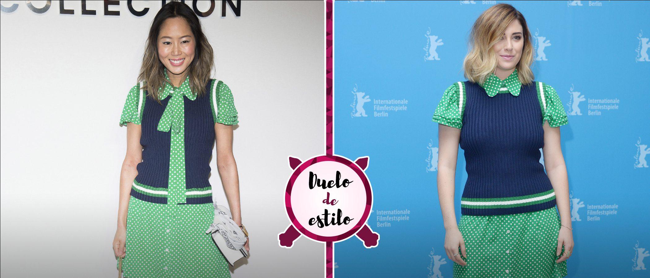 Aimee Song y Blanca Suárez con un mismo vestido de Michael Kors. ¿A quién le sienta mejor?