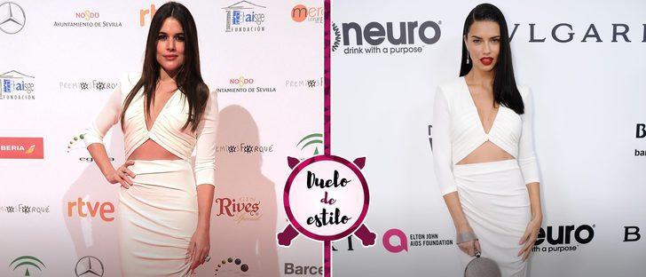 Adriana Lima y Adriana Ugarte apuestan por el mismo vestido, ¿qué look es el ganador?