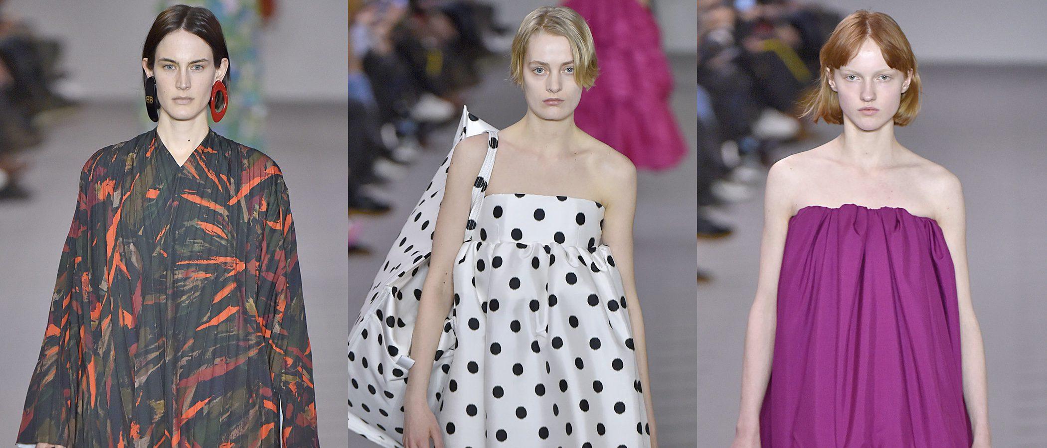 Vestidos saco, volúmenes y asimetrías protagonizan la colección de Balenciaga de Paris Fashion Week
