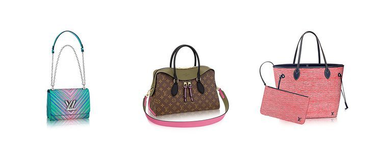 Louis Vuitton tiñe sus icónicos bolsos de colores vibrantes para primavera/verano 2017