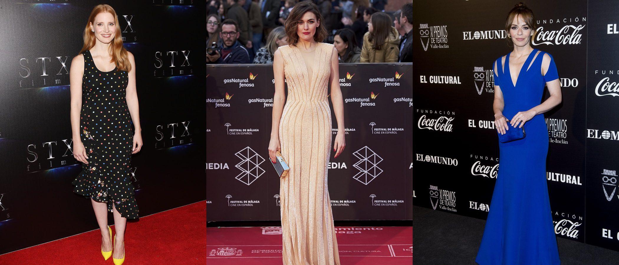 Marta Nieto, Jessica Chastain y María Adánez, entre las mejor vestidas de la semana