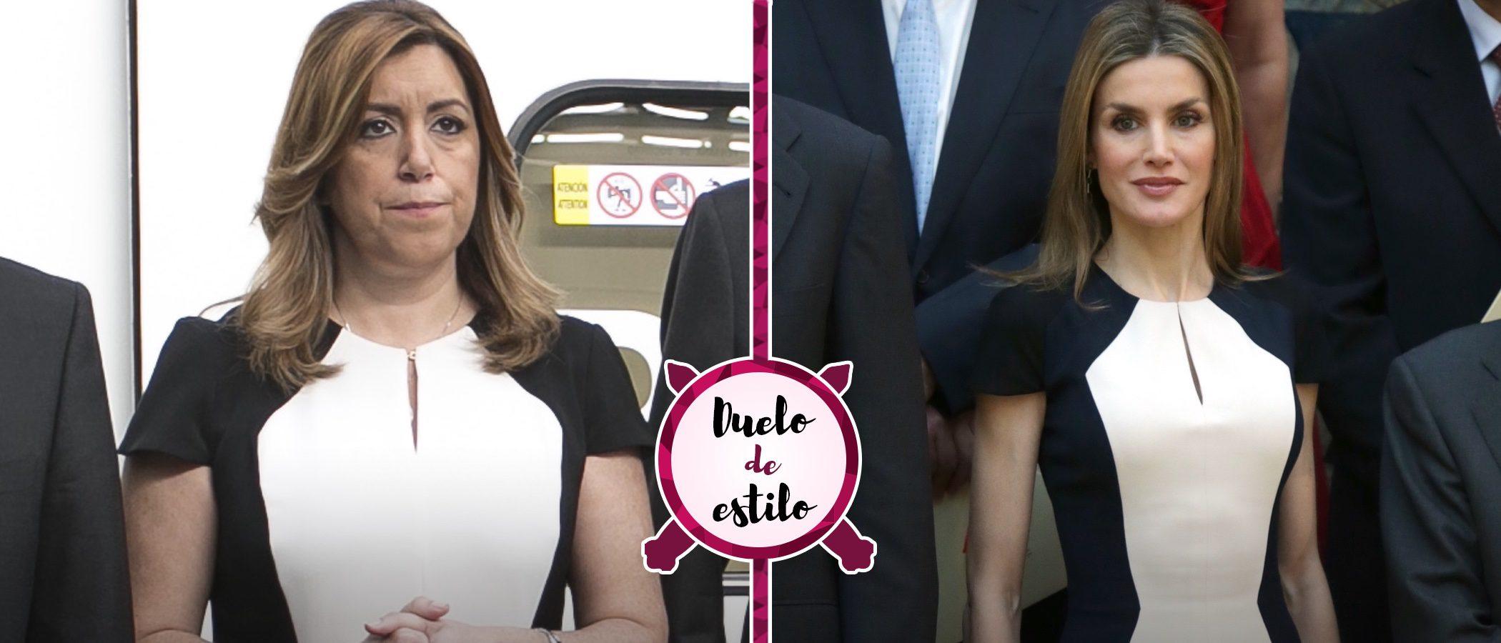 Susana Díaz y la Reina Letizia apuestan por el mismo Carolina Herrera. ¿Qué look es el ganador?