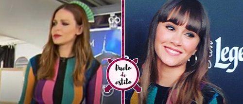 Eva González y Aitana ('OT17') coinciden con un mismo vestido de María Escoté. ¿A quién le sienta mejor?