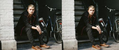 Rafferty Law, hijo de Jude Law, se abre paso como modelo para la nueva campaña de Timberland