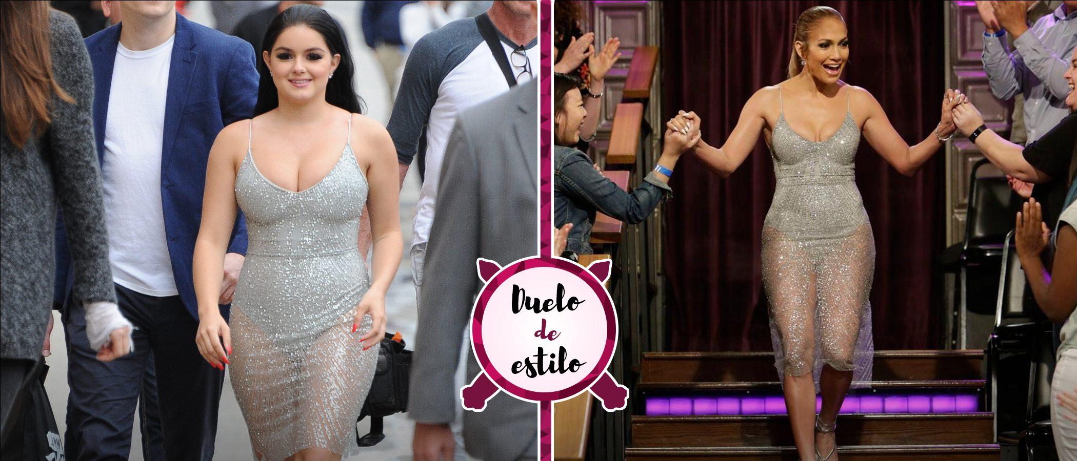 Ariel Winter y Jennifer Lopez: dos mujeres muy sexys y un mismo total look plateado