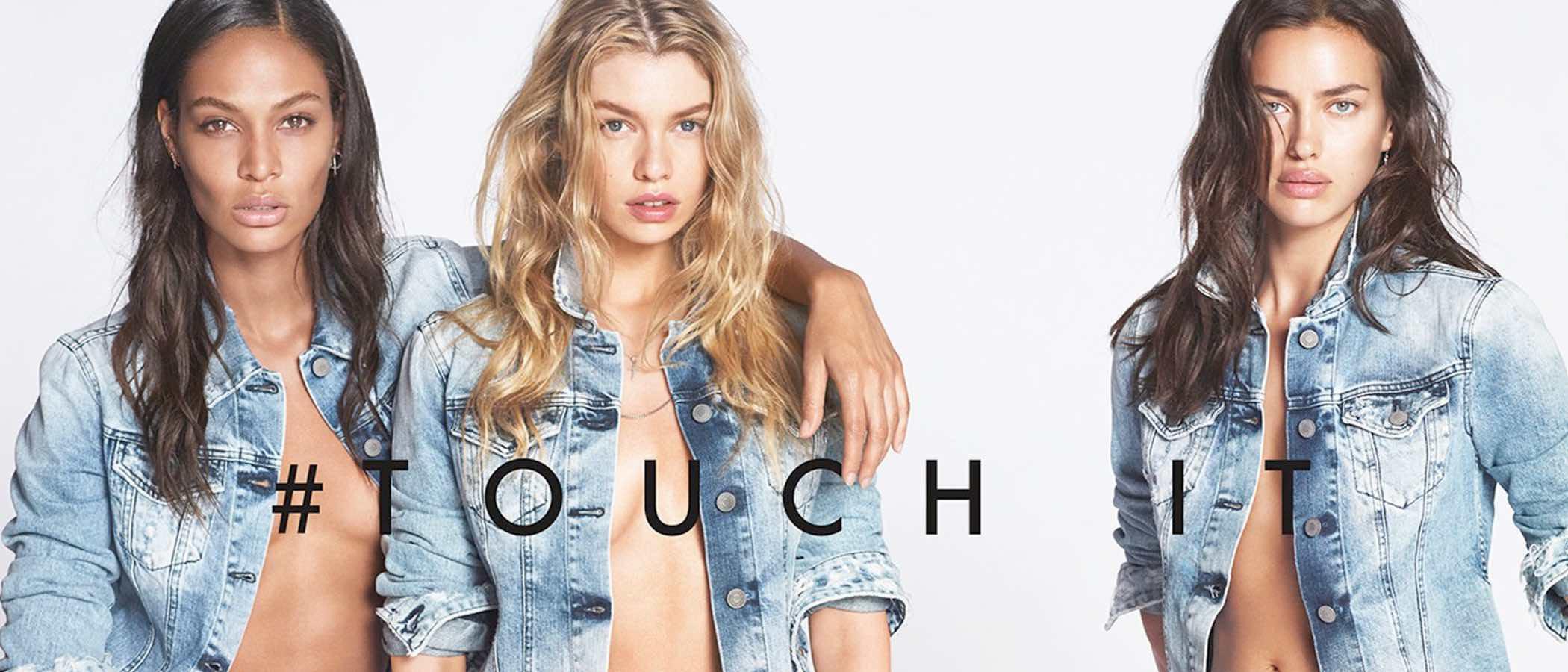 Replay presenta su nuevo vaquero femenino 'Touch' con Irina Shayk y Joan Smalls