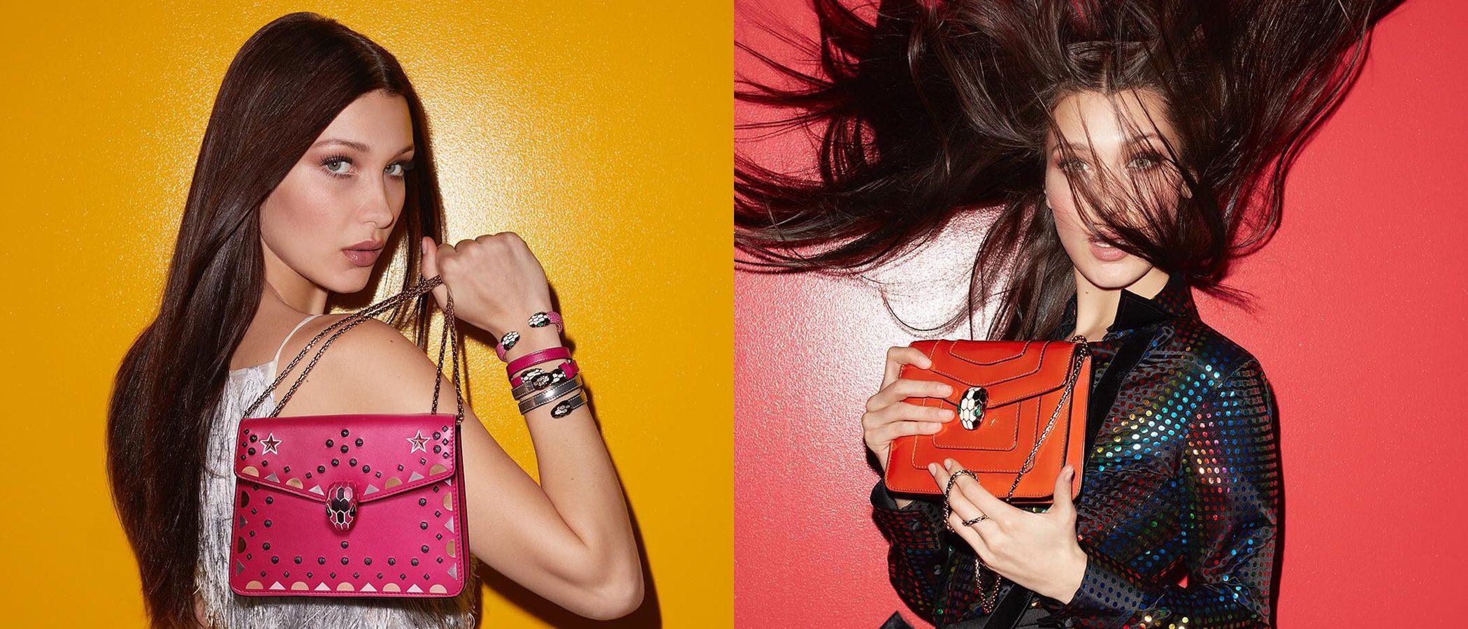 Bella Hadid se convierte en la imagen de la nueva colección de bolsos de Bulgari