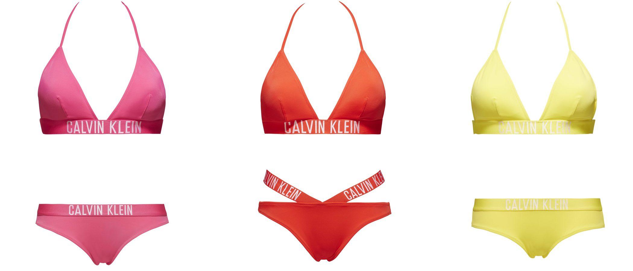 Baño a todo color con los bikinis de Calvin Klein para este verano 2017