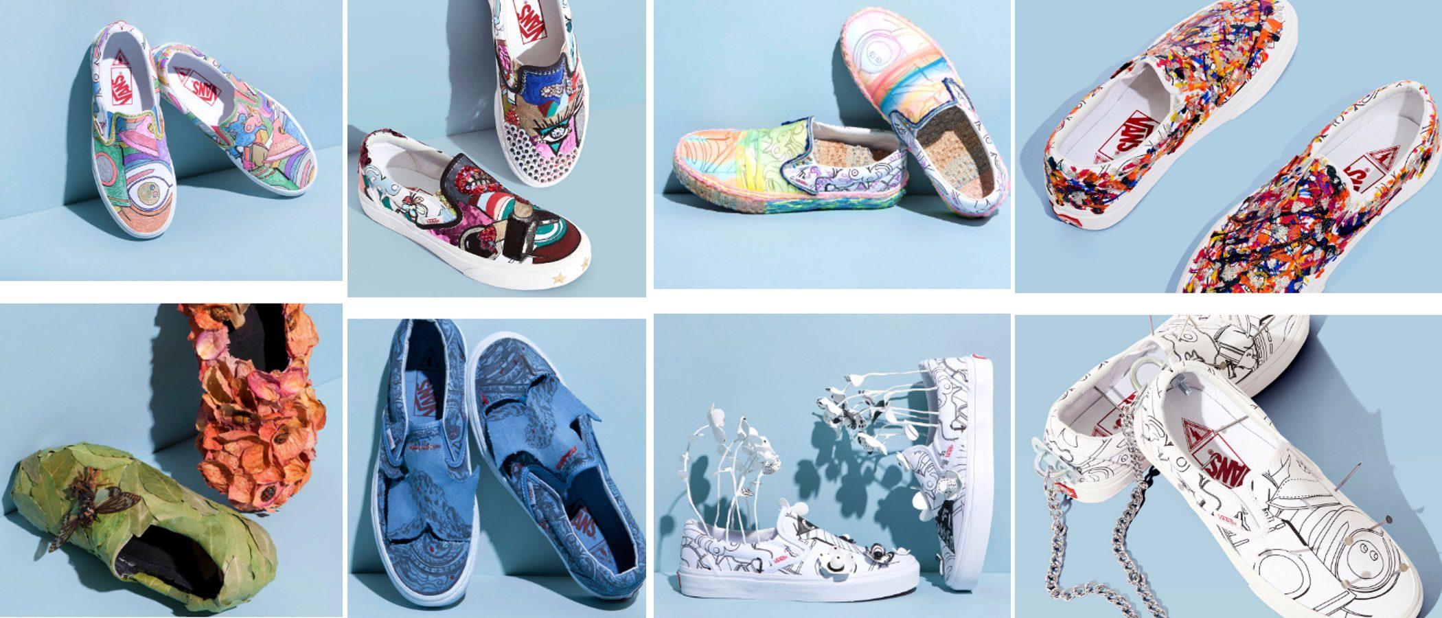 Las Vans utilizadas como si fueran lienzos: así son los diseños en colaboración con Marc Jacobs