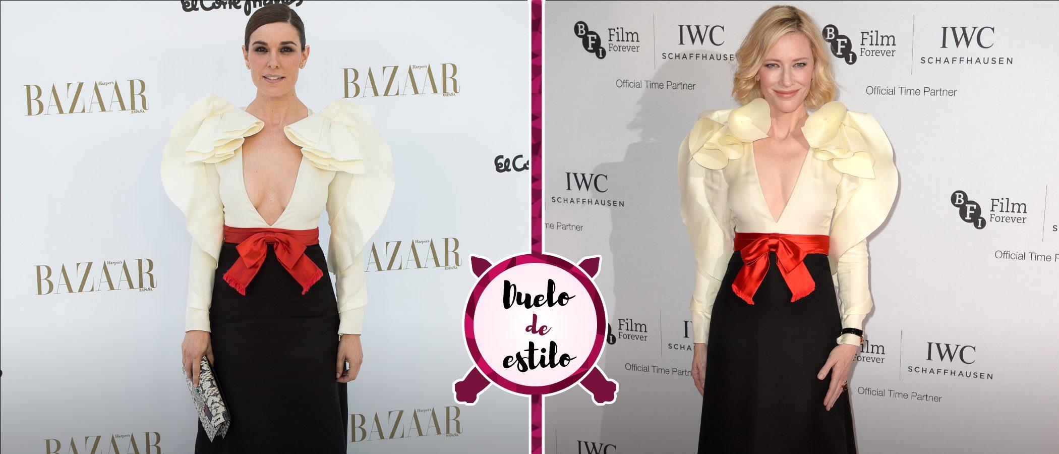 Raquel Sánchez Silva y Cate Blanchett coinciden con el mismo Gucci. ¿Quién lo luce mejor?