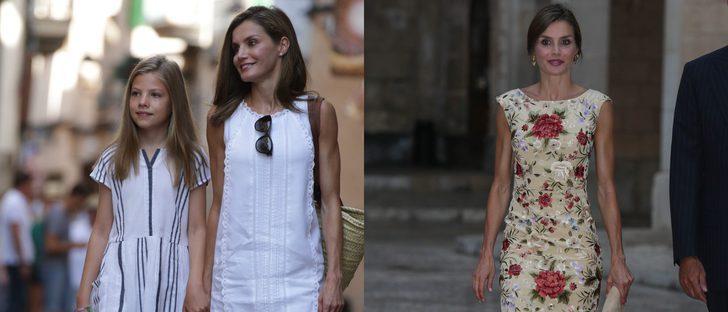 La Reina Letizia, desde Mango hasta la elegancia de Duyos en sus looks de Mallorca 2017