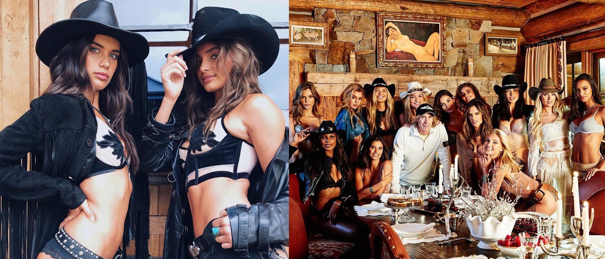 Las modelos de Victoria's Secret se visten de 'cowboys' para rodar la campaña Holiday 2017