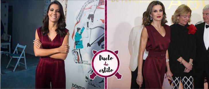 Ana Pastor se inspira en el look de la Reina Letizia. ¿Con qué outfit te quedas?
