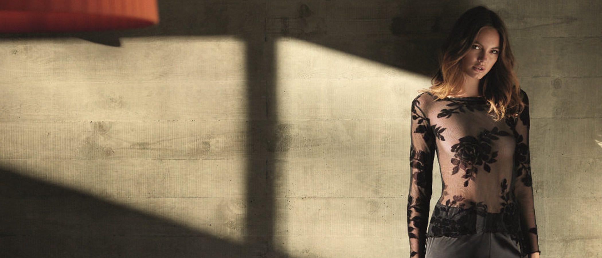 Camisones largos que recuerdan a trajes de noche en la colección 'Home lingerie' de Selmark
