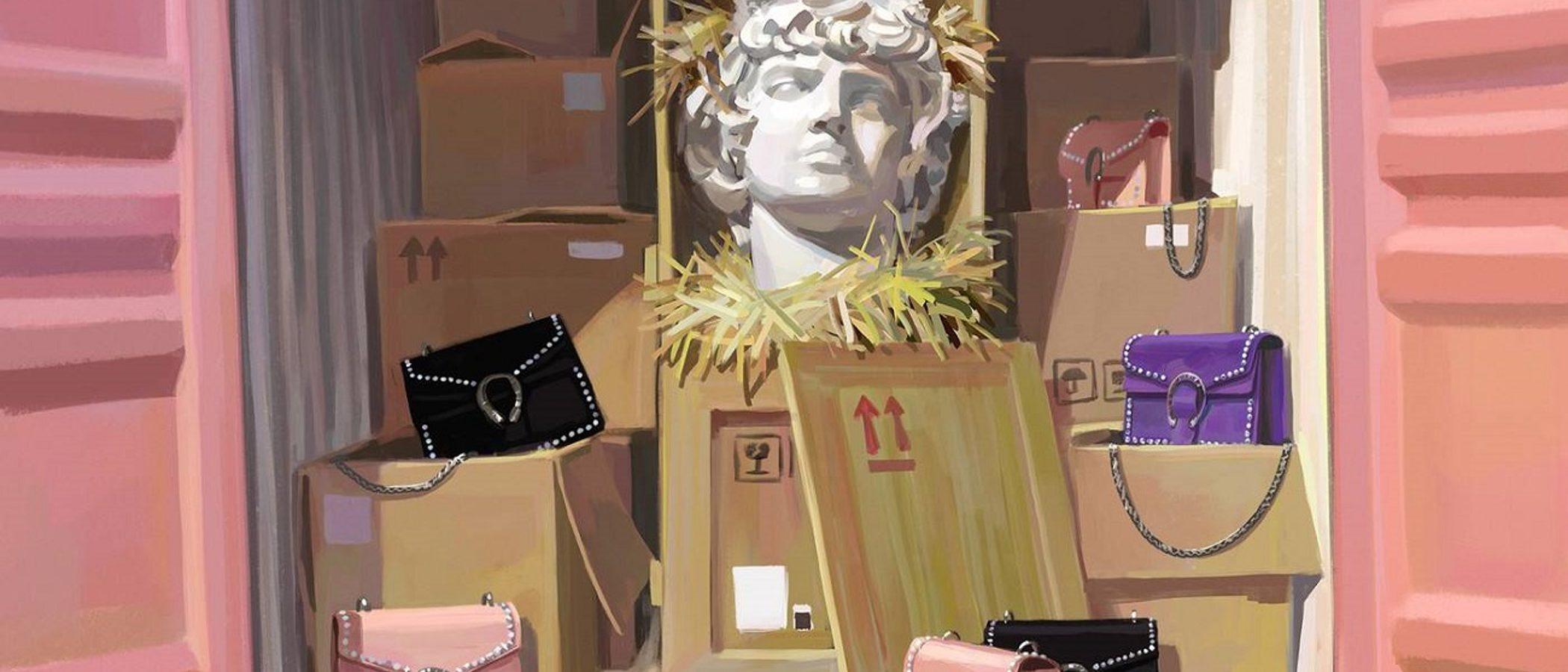 Gucci transforma su nueva campaña 'Gift Giving' en una obra de arte