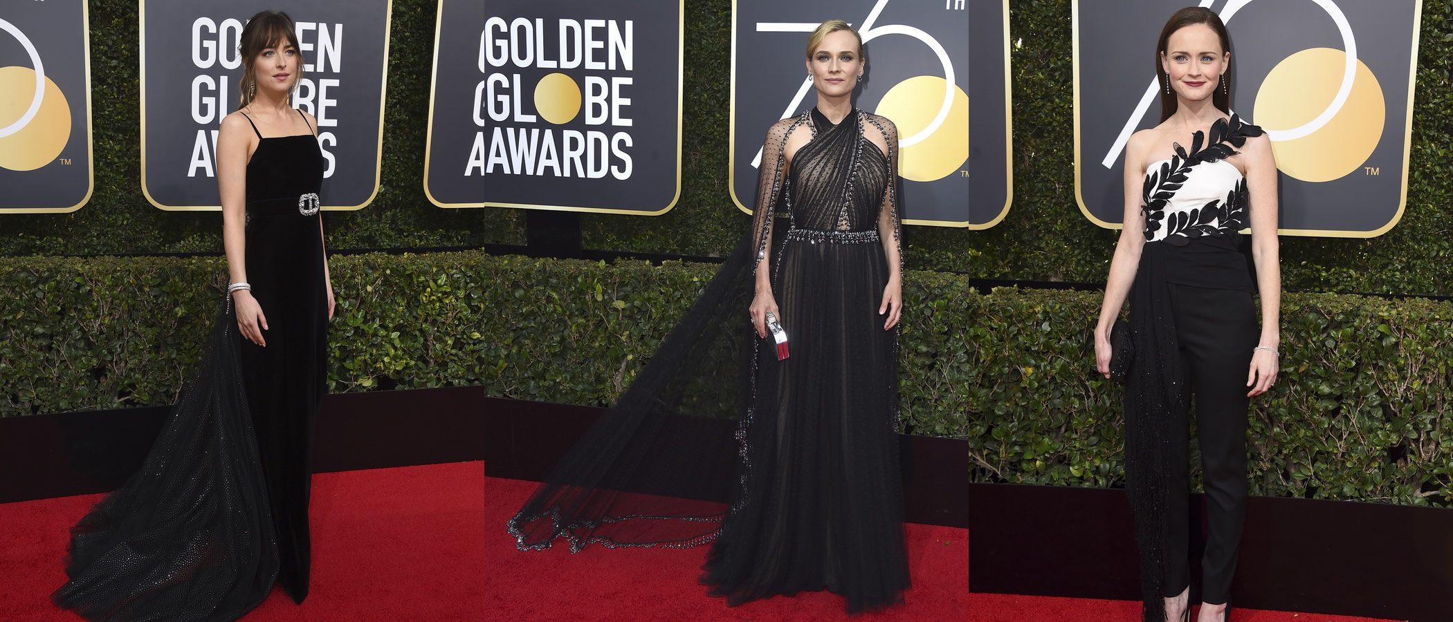 Diane Kruger y Dakota Johnson, las mejor vestidas de unos Globos de Oro 2018 en negro