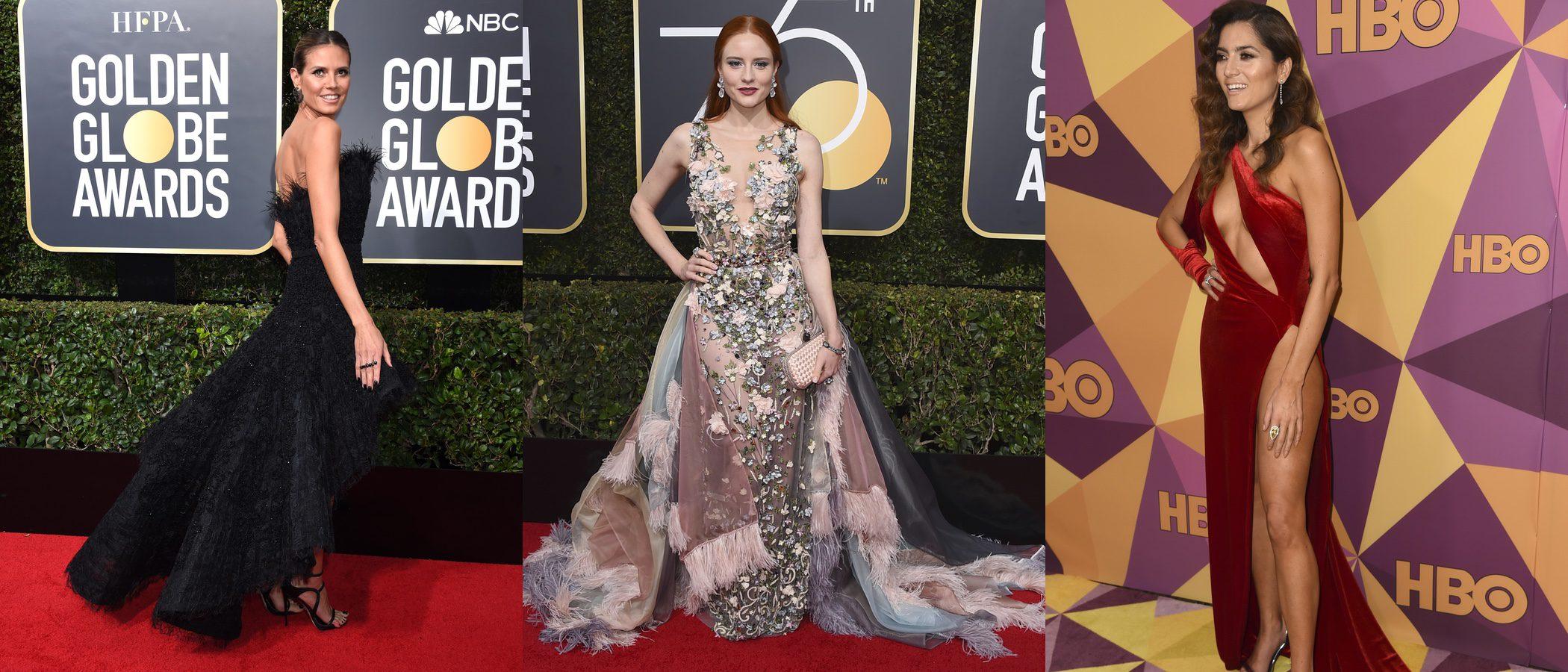 Barbara Meier y Blanca Blanco se saltan el dress code de los Globos de Oro 2018