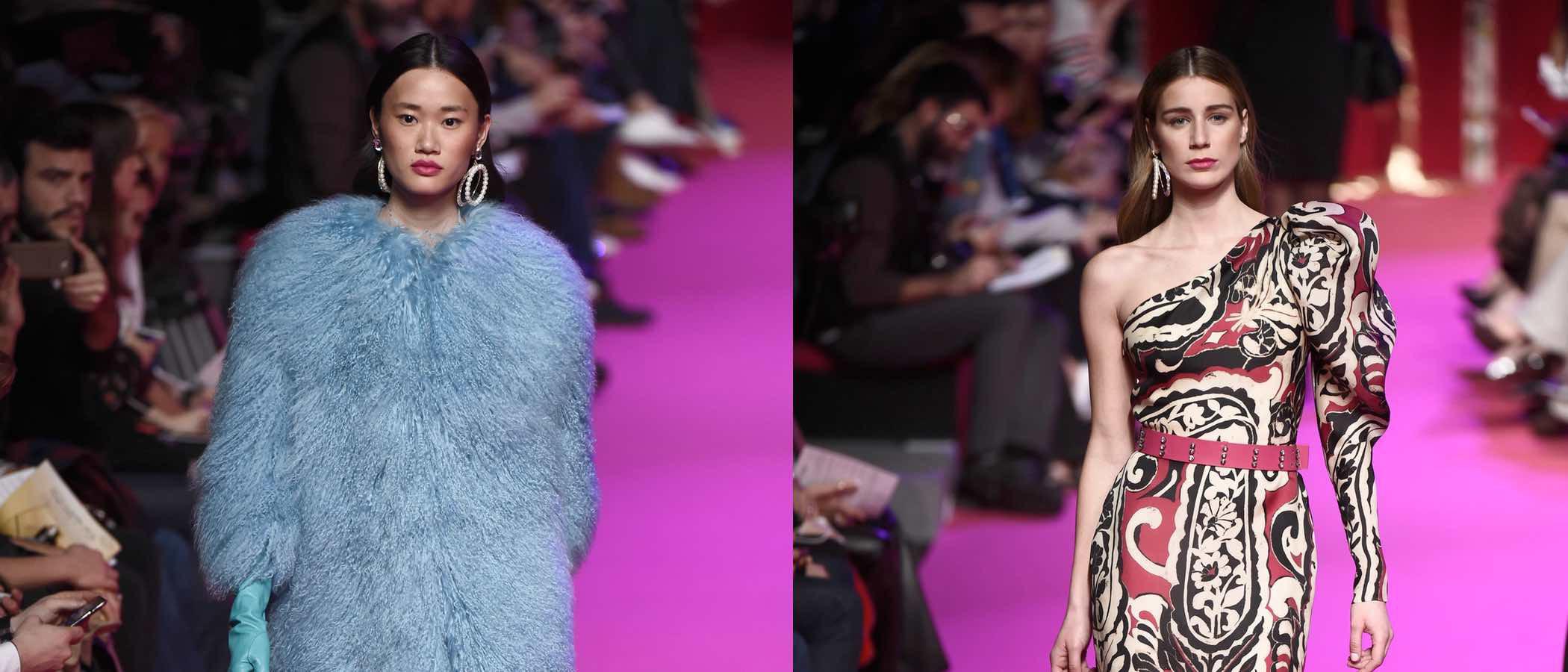 Jorge Vázquez conmemora a la serie 'Dynasty' en el desfile otoño/invierno 2018/2019 de la Madrid Fashion Week