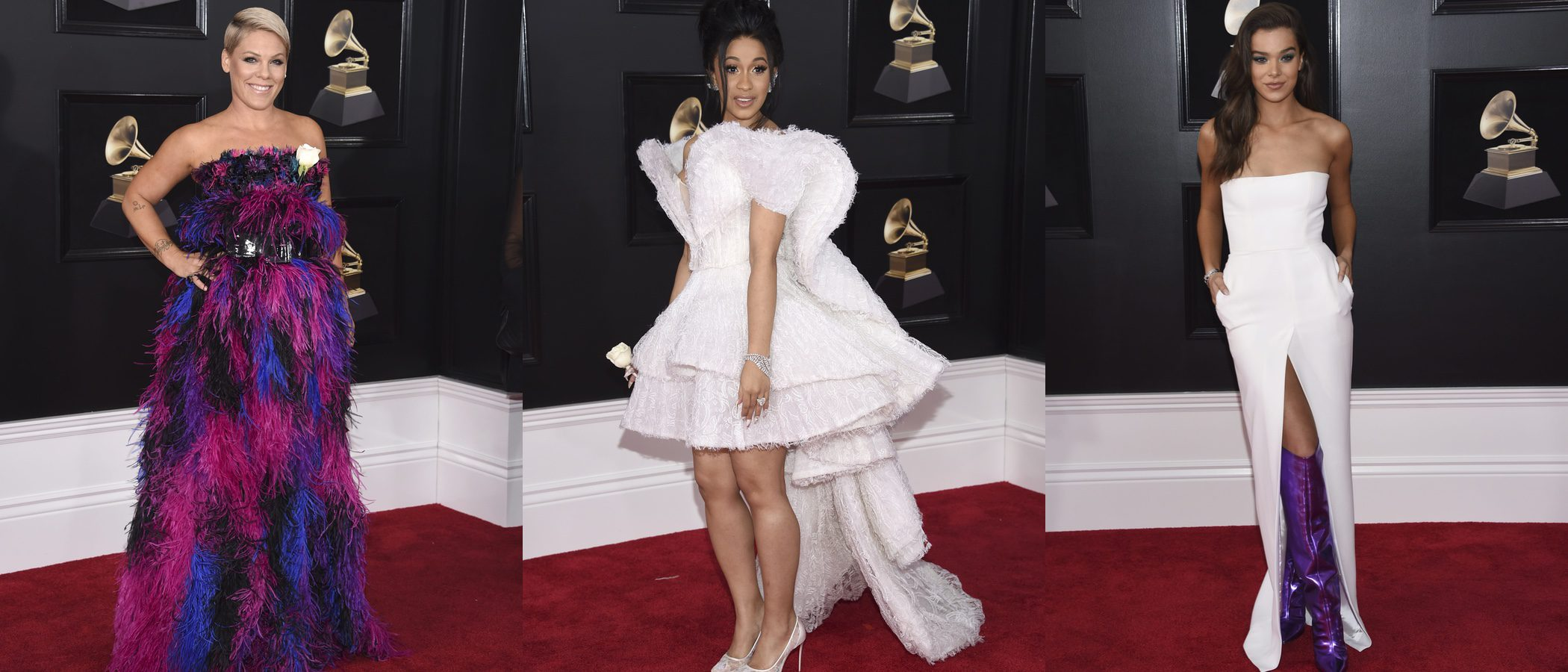 Pink, Cardi B y Hailee Steinfeld, entre las peor vestidas de los Grammy 2018
