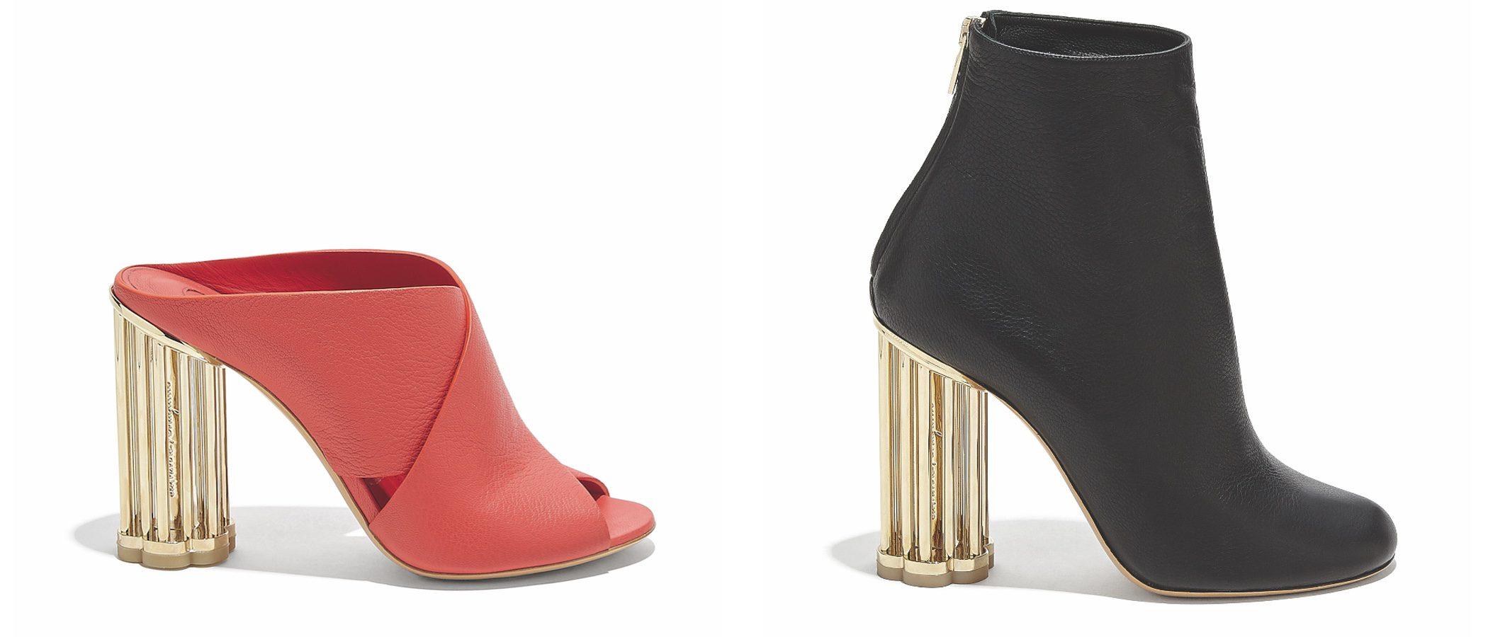 Salvatore Ferragamo crea nuevas siluetas de zapatos para su colección SS18 con tacón jaula