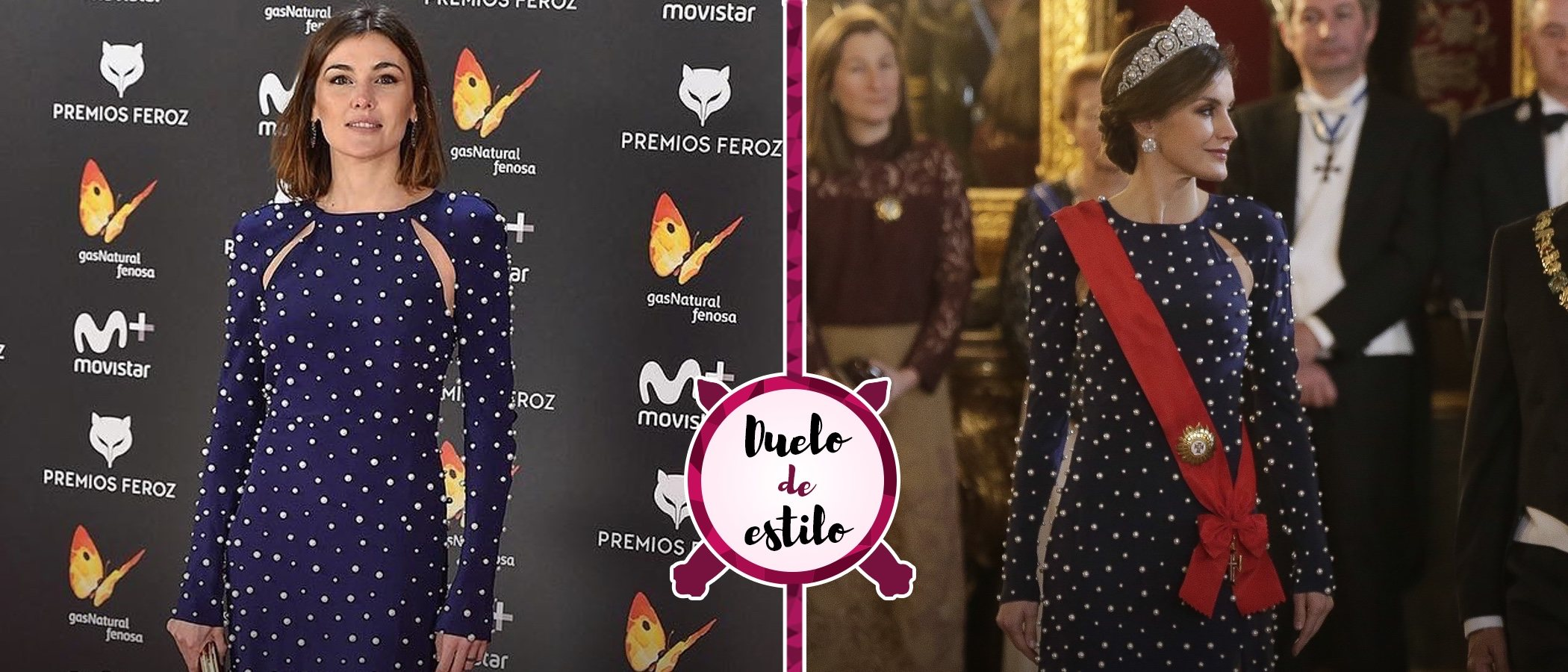 El vestido de Ana Locking de la Reina Letizia ya fue lucido por Marta Nieto. ¿Con qué look te quedas?