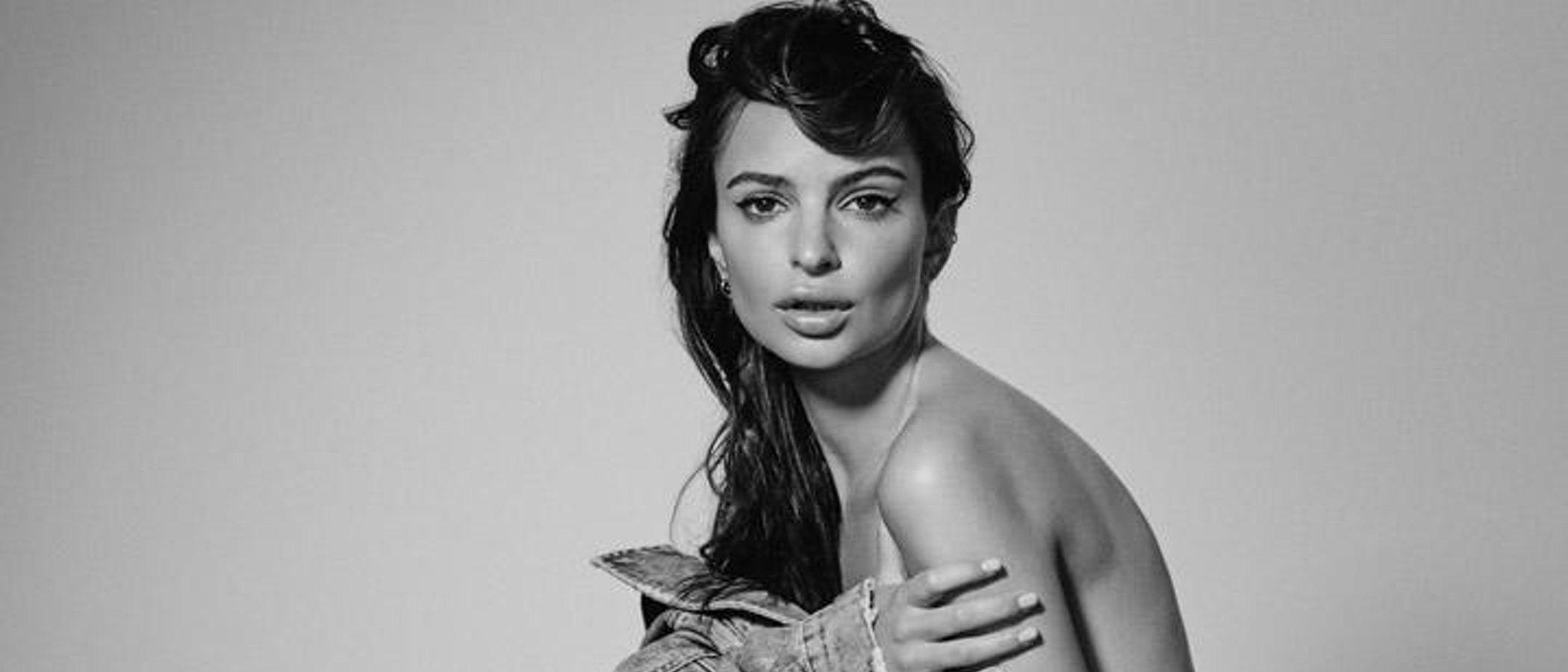 Emily Ratajkowski en topless en una nueva campaña para Denim DL1961