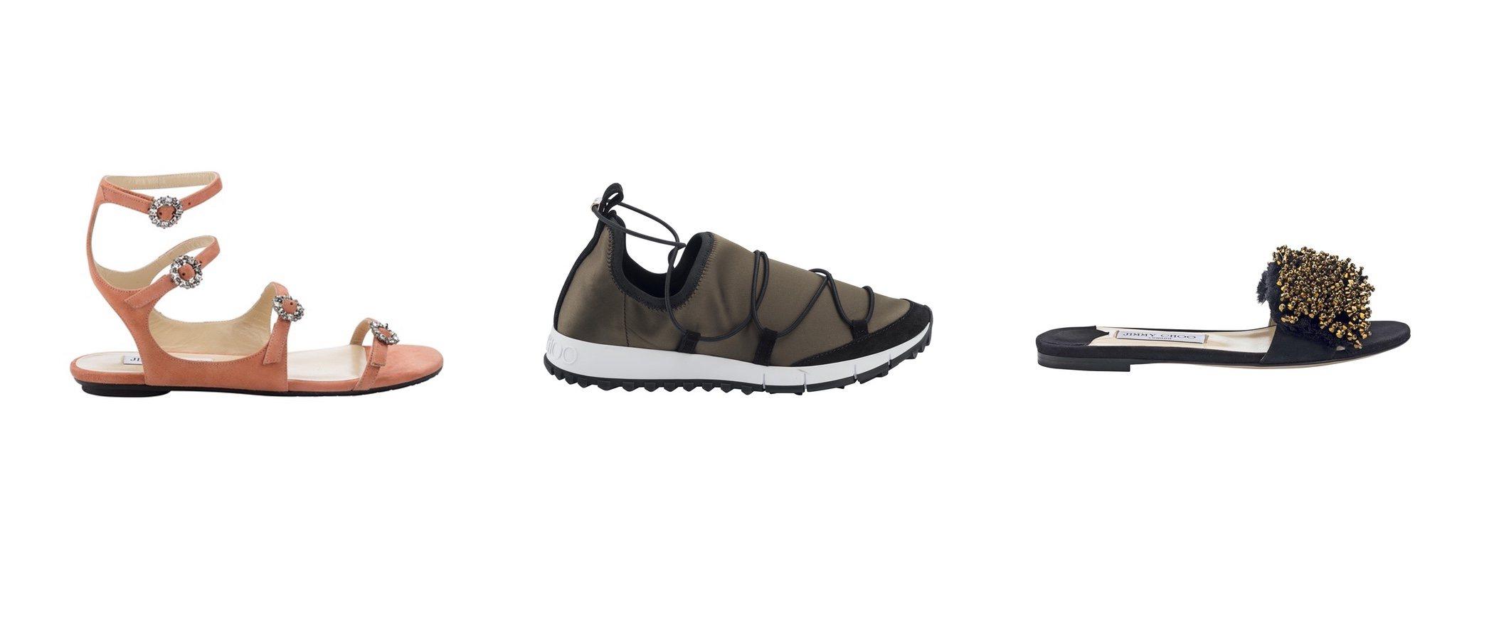 Jimmy Choo apuesta por el calzado plano en su primavera/verano 2018