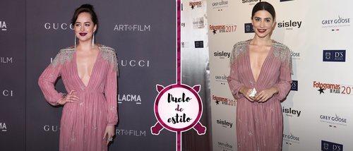 Un mismo look para dos actrices: Dakota Johnson, Bárbara Lennie y el vestido de Gucci