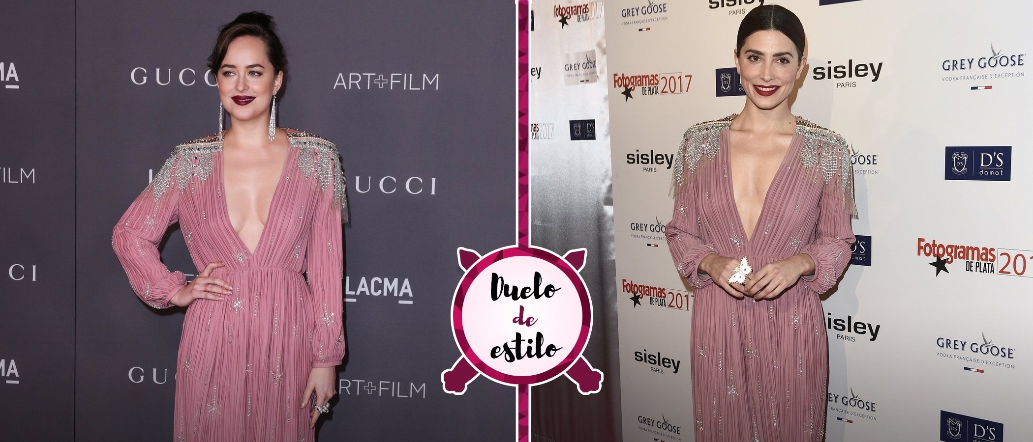 Un mismo look para dos actrices: Dakota Johnson, Bárbara Lennie y el vestido de Gucci