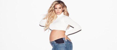 Khloe Kardashian posa en topless para promocionar su nueva línea 'Good American'