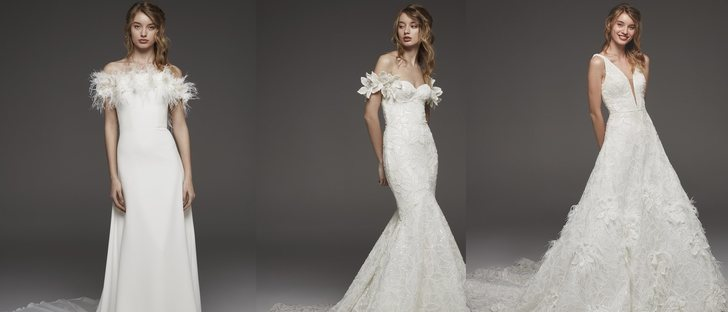 Vestidos de novia sin cola 2019