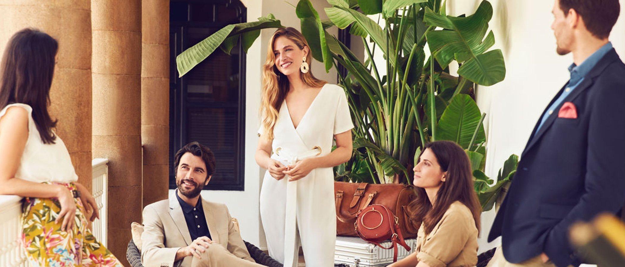 Martina Klein, Eva González y Javier Rey protagonistas de la nueva campaña de Cortefiel