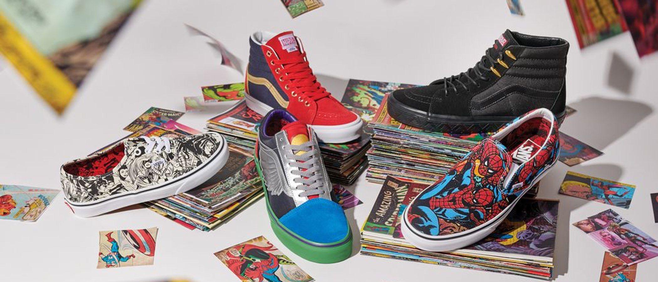 Vans se alía con Marvel para su nueva colección dedicada al mundo del cómic