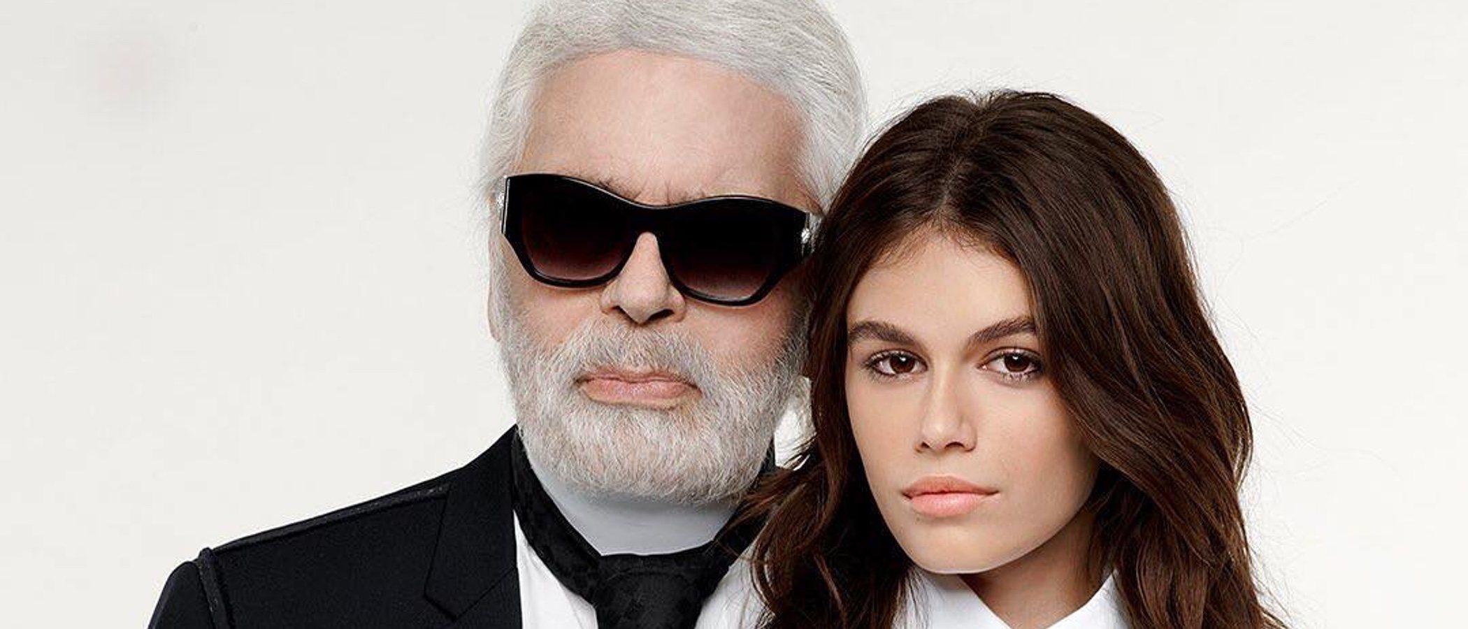 Salen a la luz algunas imágenes de la campaña de Karl Lagerfeld con Kaia Gerber