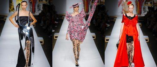 Los bocetos de Moschino cobran vida en su primavera/verano 2019 en la Milán Fashion Week