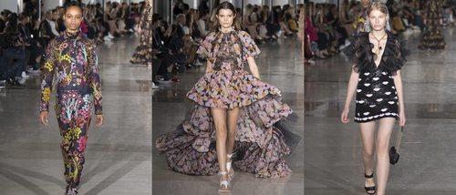 Diseños femeninos y vintage suben a la pasarela de la París Fashion Week con Giambattista Valli