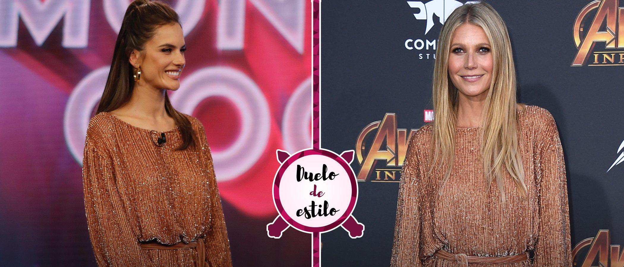 Alessandra Ambrosio y Gwyneth Paltrow apuestan por el mismo vestido pero... ¿quién lo ha lucido mejor?