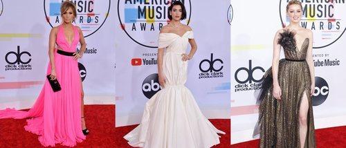 Jennifer Lopez, Dua Lipa y Amber Heard, entre las mejor vestidas de los American Music Awards 2018