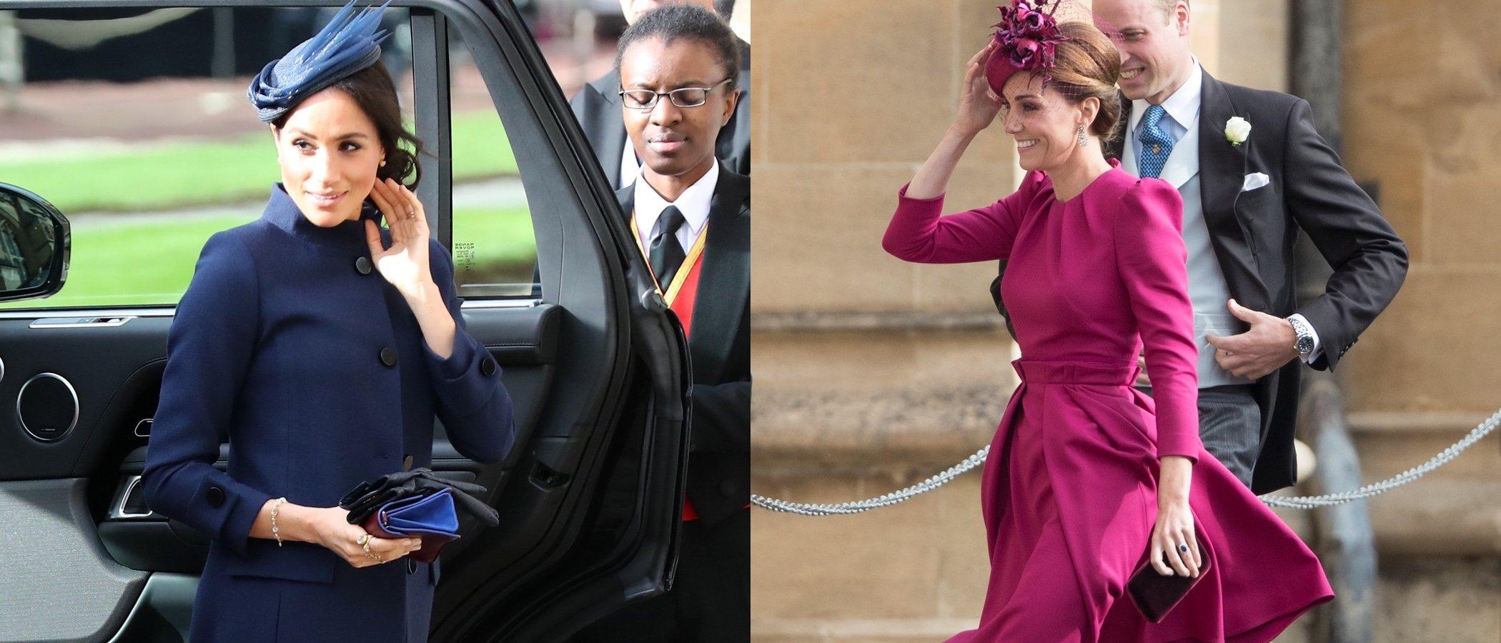 Duelo de estilo entre Meghan Markle y Kate Middleton en la boda de Eugenia de York y Jack Brooksbank